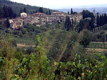 typische Landschaft in der Toskana Nähe Siena