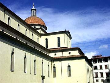 die Kirche Santo Spirito in Florenz, Toskana