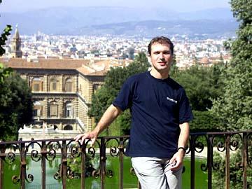 Im Giardino di Boboli über Florenz in Italien