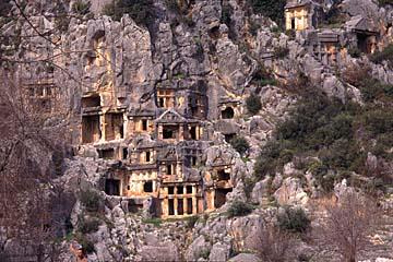 Felsengräber in Myra, türkische Riviera