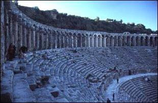 das Theater von aspendos, türkische Riveria