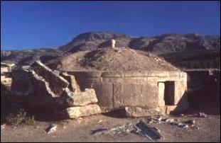 alte Gräber bei Hierapolis, Türkei