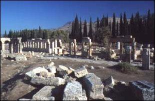 das antike Hierapolis bei Pamukkale, Türkei