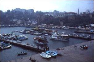 die Altstadt und der Hafen von Antalya, türkische Riviera