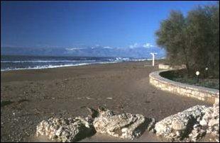 am Strand von Belek, türkische Riviera