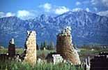 Ruinen in Perge bei Belek in der türkischen Riviera
