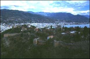 Blick über Burgfeste und Alanya, türkische Riviera