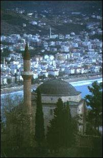 die Mosche der Burgfeste Ic Kale von Alanya, türkische Riviera