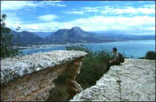 am Aussichtspunkt in Alanya, türkische Riviera