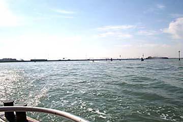 Venedig, Blick auf  Brücke zum Festland