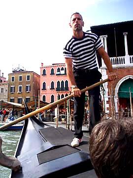 Venedig, Canal Grande, Gondoliere