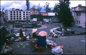 am markt von dalat, vietnam