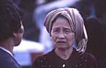 Eine alte vietnamesische Frau in Saigon in Asien