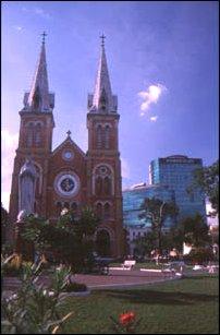 Die Notre Dame Kirche in Saigon, Vietnam