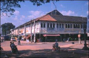 Die Stadt Siem Reap in Kambodscha