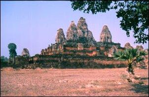 eine Ruine der Khmer in Angkor, Kambodscha