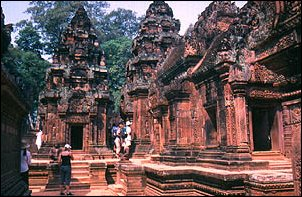 Bantey Srei bei Angkor, Kambodscha