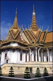 der Königspalast von Phnom Penh, Kambodscha