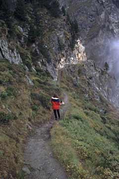 Abstieg vom Seetalpaß, Wallis, Schweiz