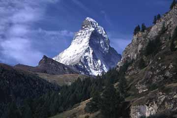 Das Matterhorn im Wallis in der Schweiz