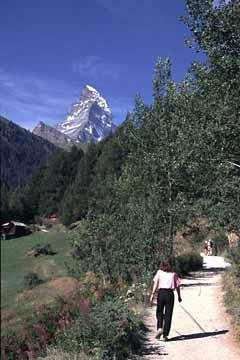 von Zermatt zur Riffelalp, Wallis, Schweiz