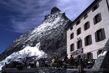 Hörnlihütte (3260 m), Wallis, Schweiz
