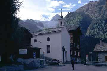 Kirche in Gassenried, Wallis, Schweiz