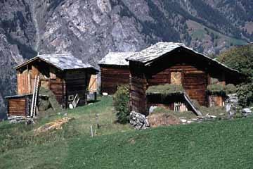 am Europaweg bei Grächen, Wallis, Schweiz