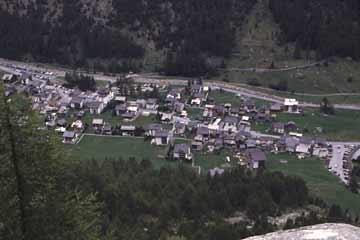 Blick auf Almagell, Wallis, Schweiz