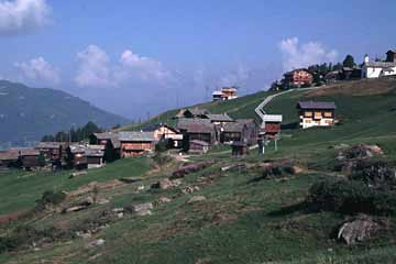 Gspon, über Stalden, Wallis, Schweiz