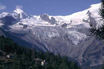 Walliser Gletscherwelt von der Weismieshütte aus, Wallis, Schweiz