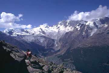 am Höhenweg Kreuzboden - Almageller Alp, Wallis, Schweiz