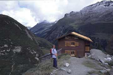 Petit Mountet-Hütte, Wallis, Schweiz
