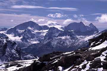 Blick von der Cabane des Becs de Bosson, Wallis, Schweiz