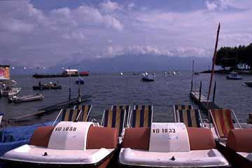 Genfer See bei Lausanne, Wallis, Schweiz