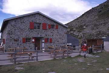 Bella-Tolla-Hütte, Wallis, Schweiz