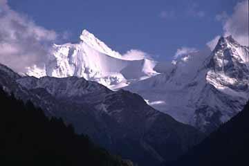Ausblick von Leukerbad, Wallis, Schweiz