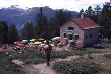 Illhornhütte, Wallis, Schweiz