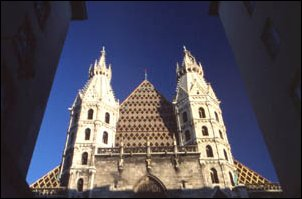 der Stephansdom (Steffl) zu Wien in Österreich