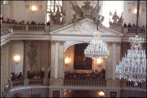 im schönsten Reitsaal der Welt in der Hofburg zu Wien