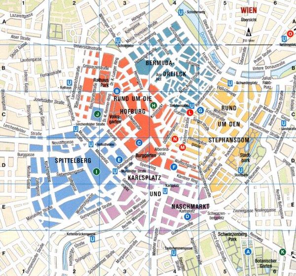 Karte und Stadtplan Wien, Österreich