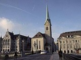 das Frauenmünster in Zürich, Schweiz