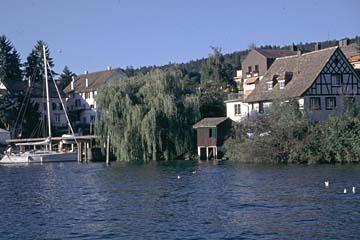 Ausblicke von der Schifffahrt auf dem Zürichsee