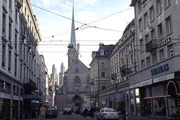die Poststraße in Zürich