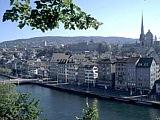 Aussicht auf die Stadt Zürich vom Lindenhof