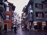 Die Augustinergasse in der Züricher Innenstadt