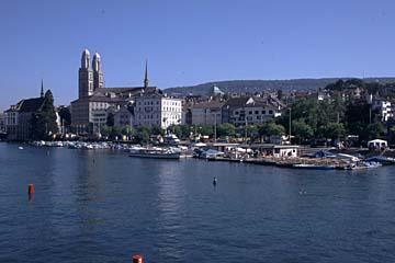 am Limmatkai in Zürich, Schweiz