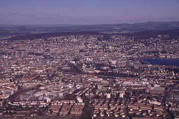 Ausblick auf die Stadt Zürich in der Schweiz
