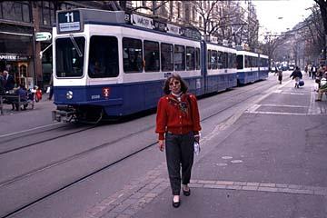 die Tramm als Verkehrsmittel in der Innenstadt von Zürich