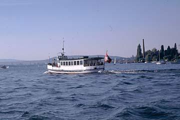 Ausblick von der Schifffahrt auf dem Zürichsee